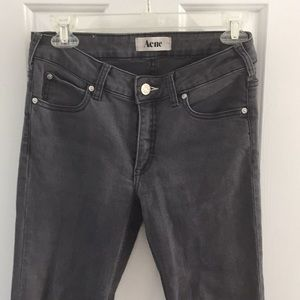 Acne grey straight leg jeans 27